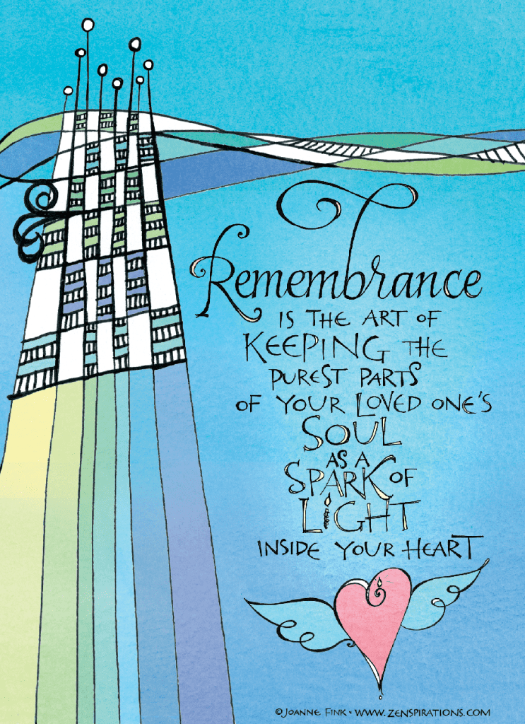 The Art of Remembrance - Zenspirations