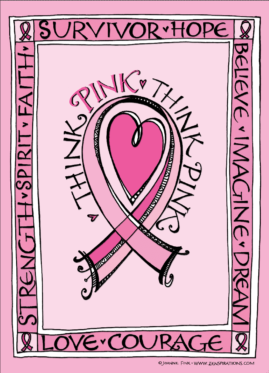 Think Pink Free Downloadable Coloring Pages Zenspirations