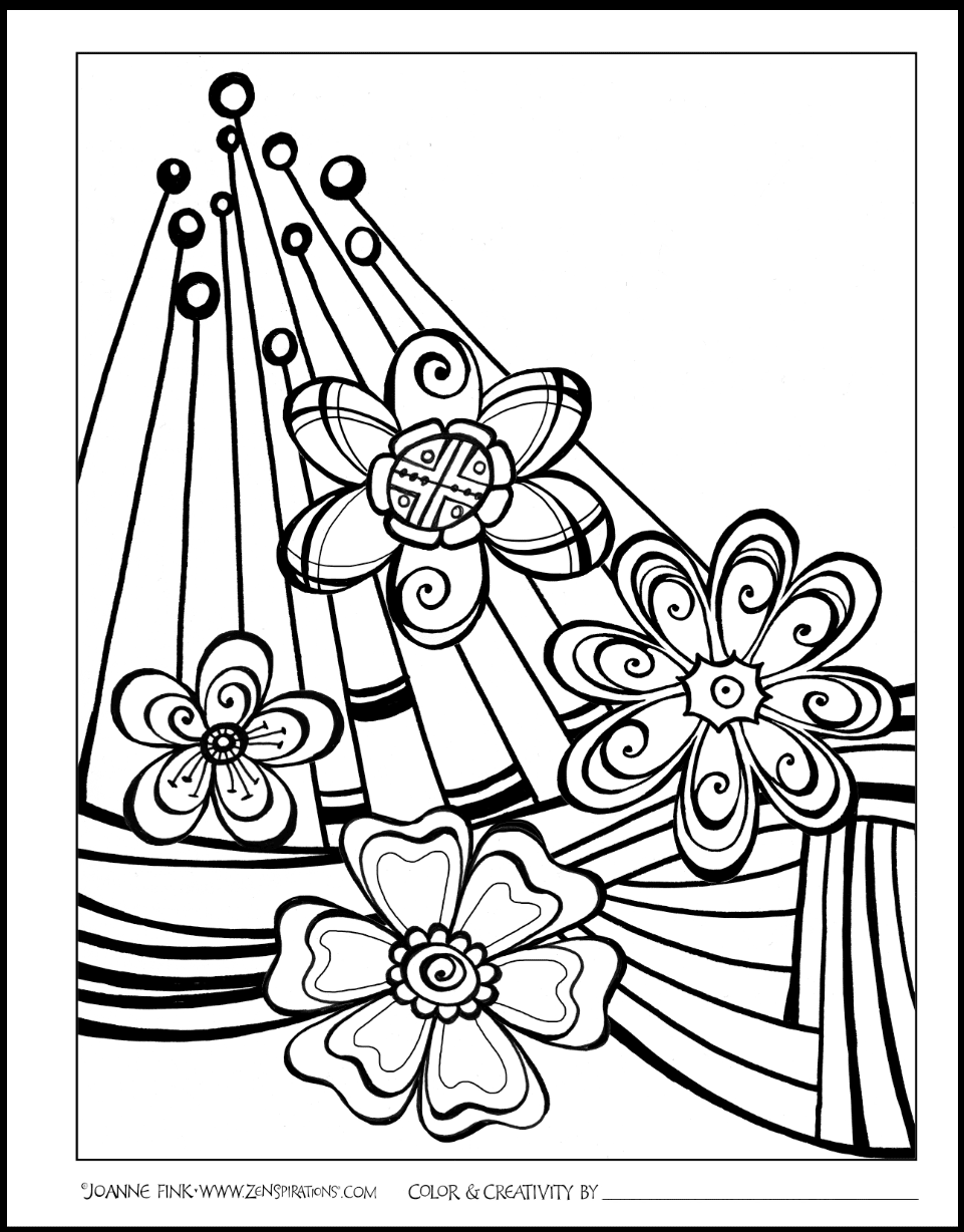 bold line coloring pages | A Gratitude Inspired Life - Zenspirations