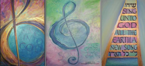 Zenspirations®_by_Joanne_Fink_Sing_Unto_God_Painting_trio