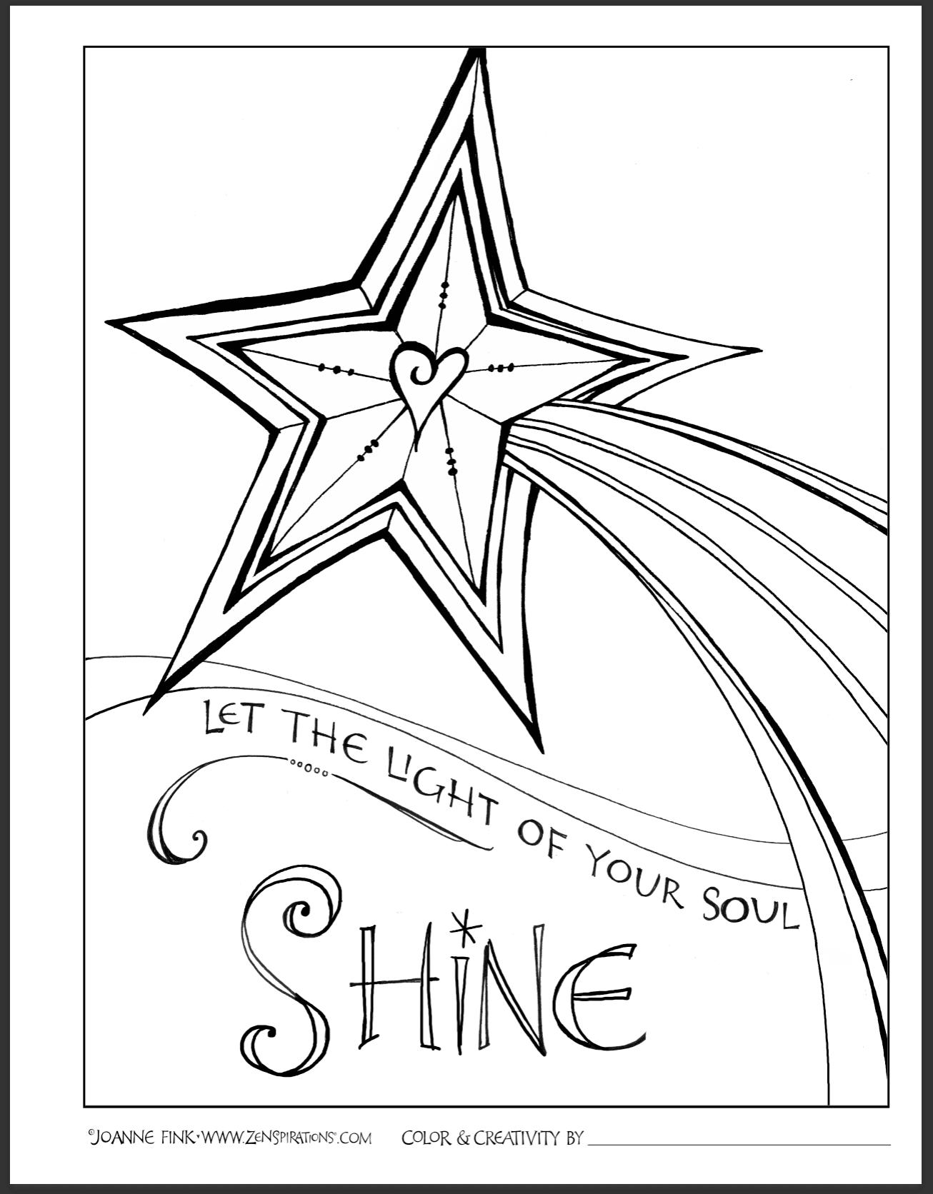 shine for jesus coloring pages | Praying for L.I.G.H.T. - Zenspirations